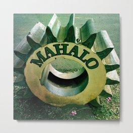 Mahalo Hawaii Metal Print