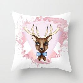 Pink Deer - Ciervo Rosa Throw Pillow