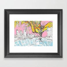 Multi-coloured Melbourne Framed Art Print