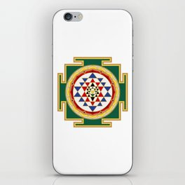 Sri Yantra colored iPhone Skin