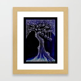 "Family Tree ""Aged Paper"" Framed Art Print"