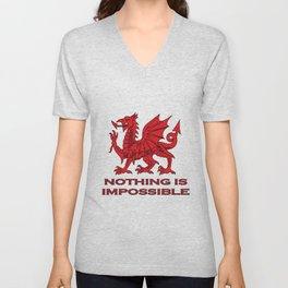 Nothing Is Impossible Red Dragon Unisex V-Neck