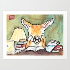 Study Fox Art Print