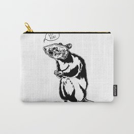 Get Bent Rat Skull Ink Carry-All Pouch