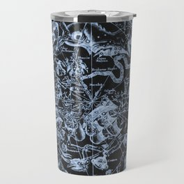 Ice on Black | Zodiac Skies & Astrological Ties Travel Mug