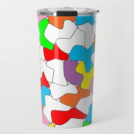 Multi-colored Shapes  Travel Mug