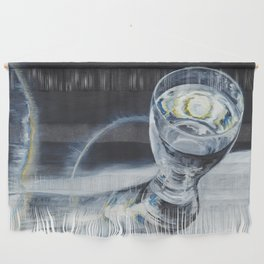 Glass of the water in the light Wall Hanging
