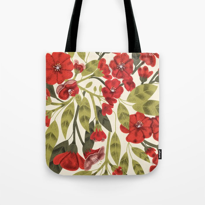 Red Garden Tote Bag