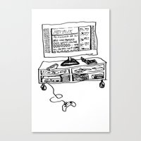 netflix Canvas Prints featuring Netflix by Ham Slammwich