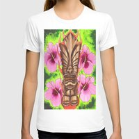 tiki T-shirts featuring Tiki by Tuff Luck Les
