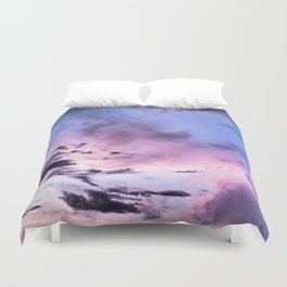fly up to the blue pink sky Duvet Cover