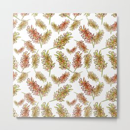 Australian Native Floral Pattern Metal Print