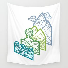 How to Build a Landscape (outline) Wall Tapestry