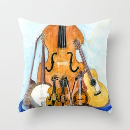 Old Time String Band Throw Pillow