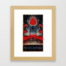 Watchfire (color) Framed Art Print