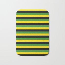 Jamaica flag stripes Bath Mat
