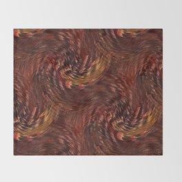 Mixing Copper Metallic Throw Blanket