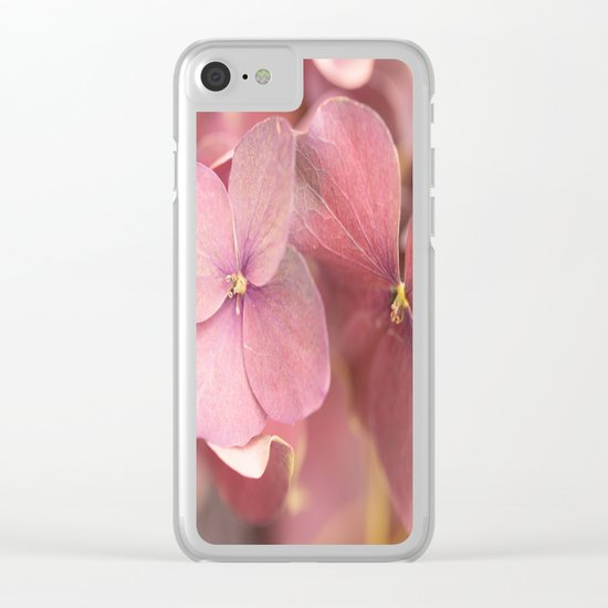 Hortensia Flower Clear iPhone Case