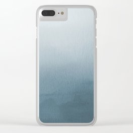 Behr Blueprint Blue S470-5 Abstract Watercolor Ombre Blend - Gradient Clear iPhone Case