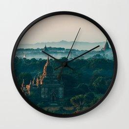 Bagan Pagodas Wall Clock