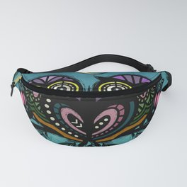 A Perfect Pair Of Midnight Moonlit Owls Fanny Pack
