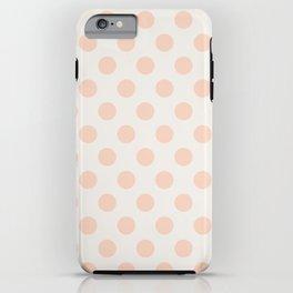 Vintage Dot Pale Peach iPhone Case