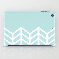 tiffany iPad Cases featuring TIFFANY CHEVRON by natalie sales
