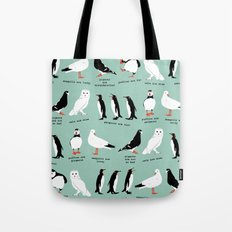 wordy birdy Tote Bag