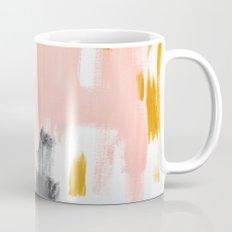 Gray and pink abstract Mug