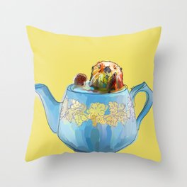 Otter Teapot Throw Pillow