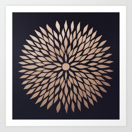 Rose Gold Flower Art Print