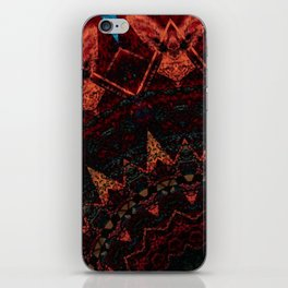 Distressed Red Orange Sepia Mandala Design iPhone Skin