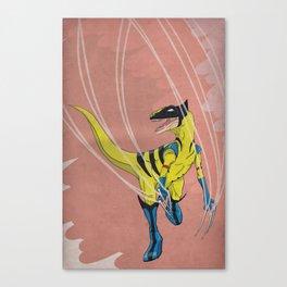 Wolveraptor - Superhero Dinosaurs Series Canvas Print