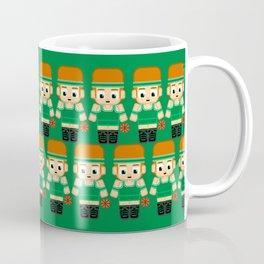 Basketball Green and White Coffee Mug