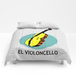 El Violoncello Mexican Loteria Card Comforters