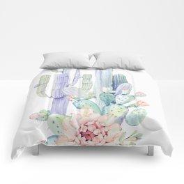 Mixed Cacti 2 #society6 #buyart Comforters