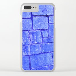 Purple stone wall Clear iPhone Case