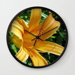 Daylily Summer Wall Clock