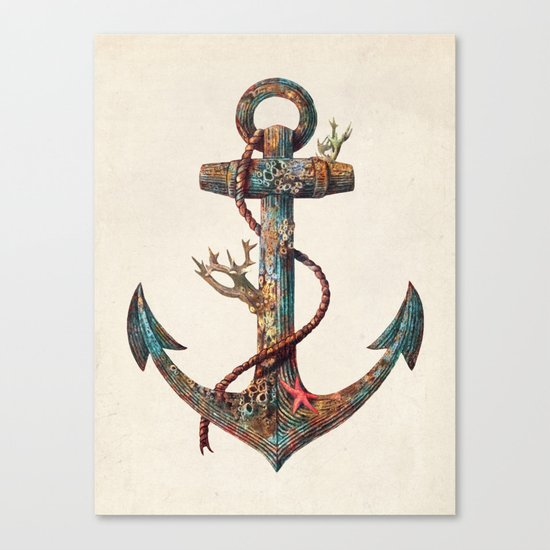 Lost at Sea - colour option Canvas Print