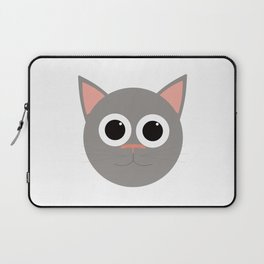Grey Cat Laptop Sleeve