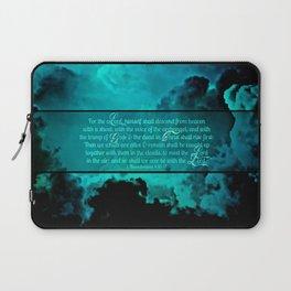 RETURN (1 Thessalonians 4:16-17) Laptop Sleeve