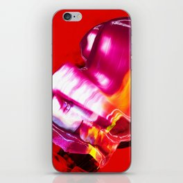 Red Waves iPhone Skin