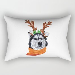 polygonal husky Rectangular Pillow