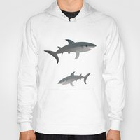 sharks Hoodies featuring Sharks by Bwiselizzy