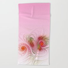 a dream in pink and red Beach Towel