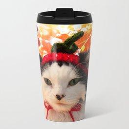 Strawberry Shortfluff Metal Travel Mug