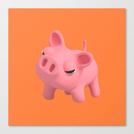 Ros the Pig is Angry Canvas Print