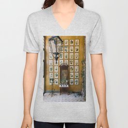 A Wall of Orchids, Merida, Mexico Unisex V-Neck