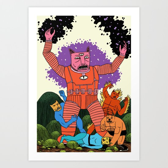 Catastic Four Art Print