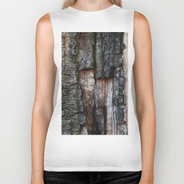 Tree Bark close up Biker Tank
